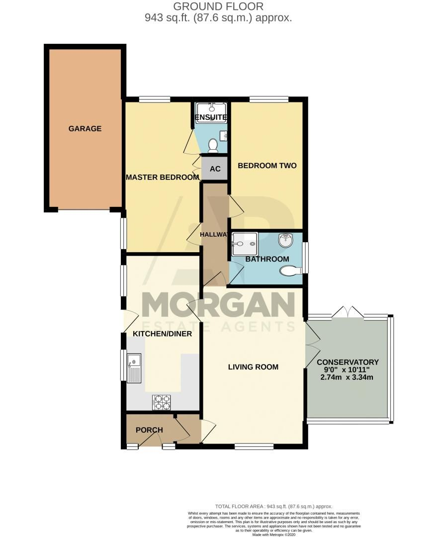 2 bed bungalow for sale in Verbena Close - Property Floorplan