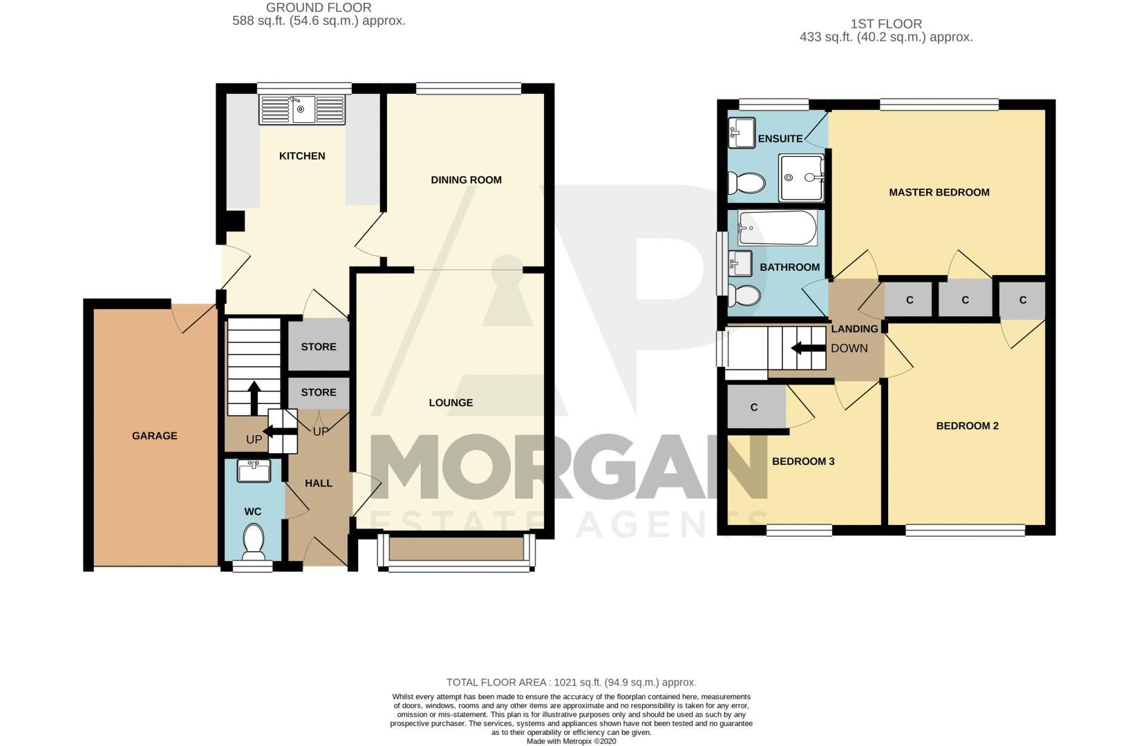 3 bed house for sale in Rush Lane - Property Floorplan
