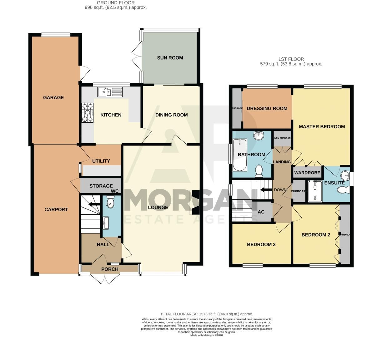 3 bed house for sale in Barnetts Close - Property Floorplan