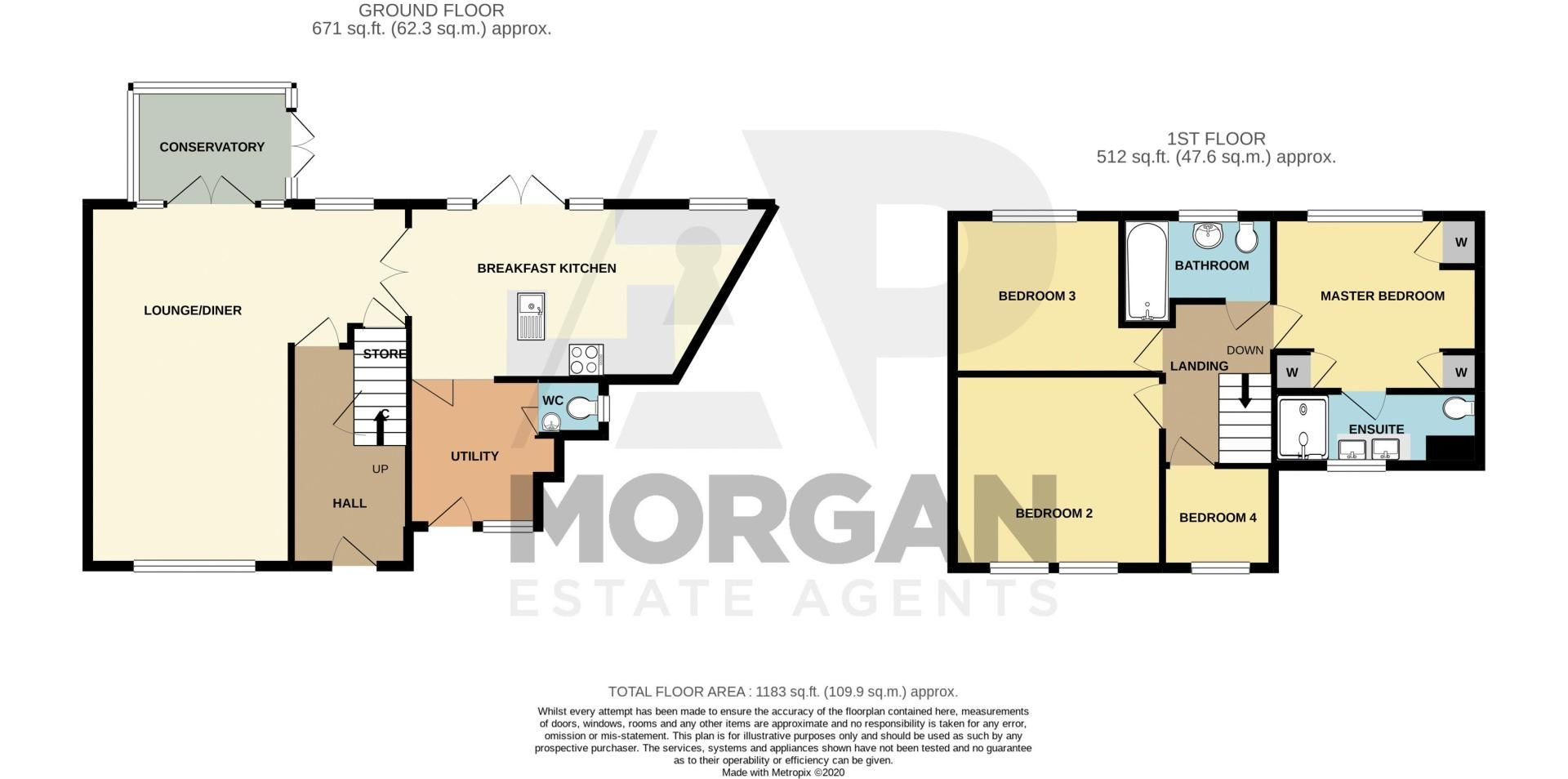 4 bed house for sale in Alvin Close - Property Floorplan