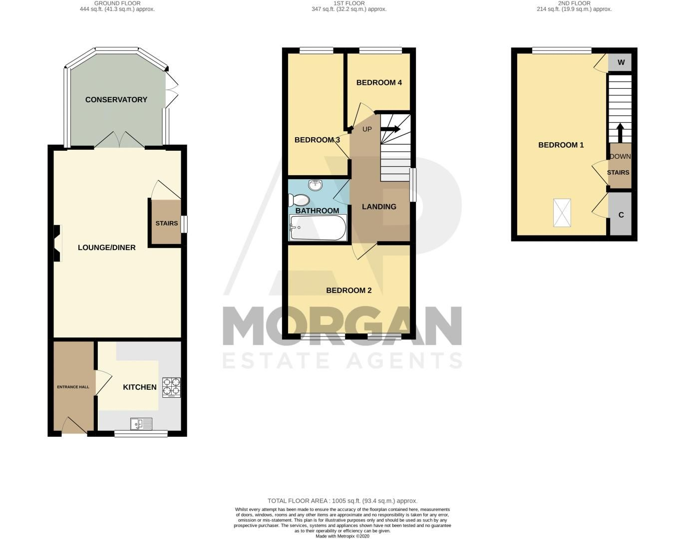 4 bed house for sale in Haden Close - Property Floorplan