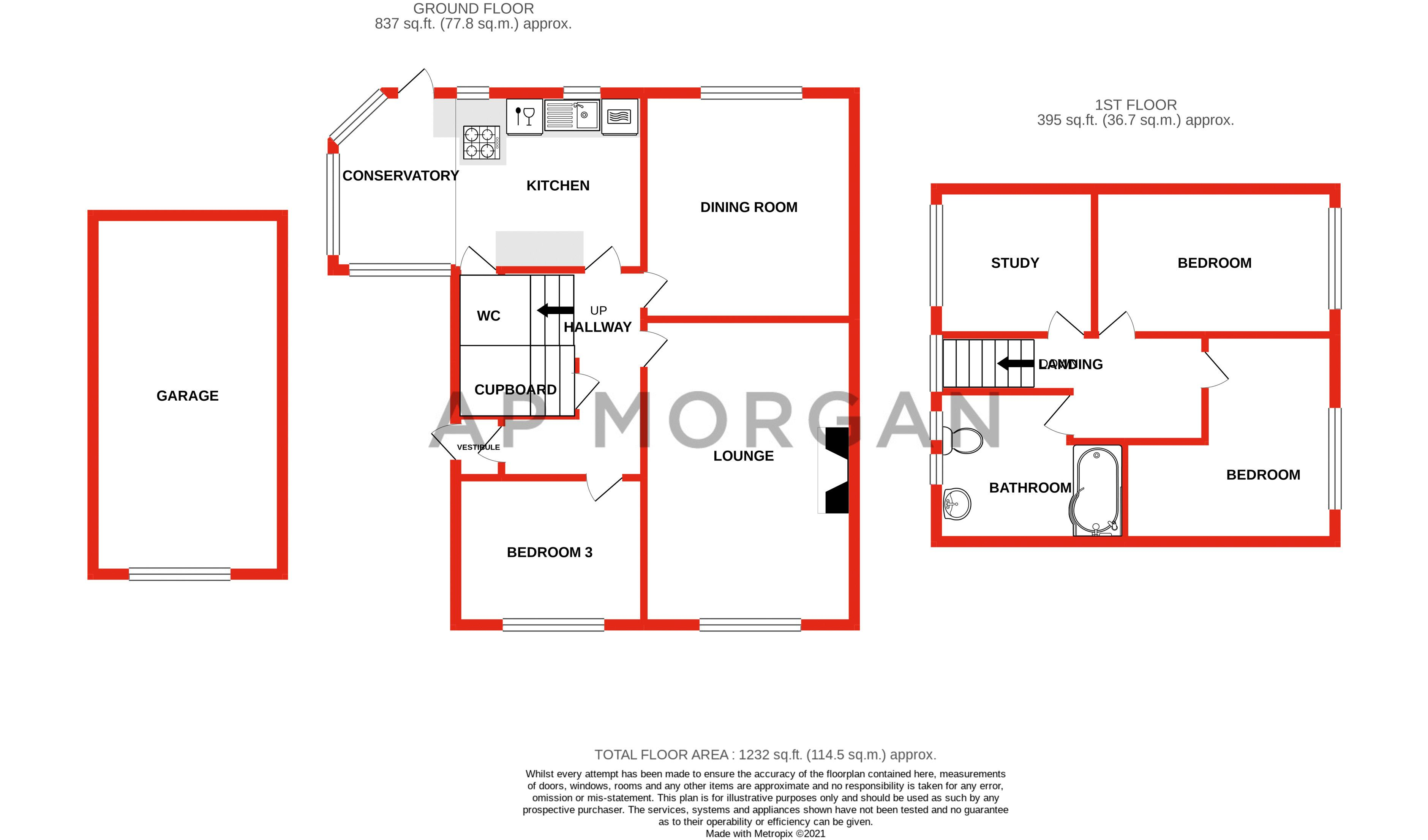 3 bed bungalow for sale in Clent View Road - Property Floorplan