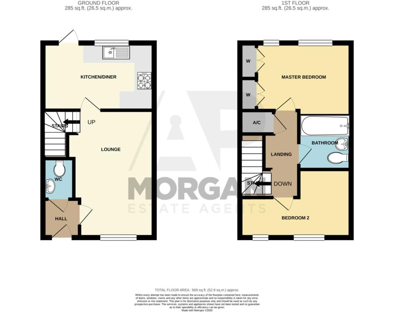 2 bed house for sale in Maiden Way - Property Floorplan