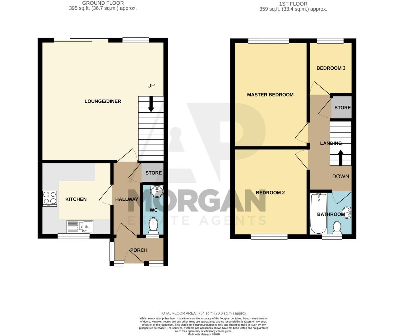 3 bed house for sale in Shaw Lane - Property Floorplan
