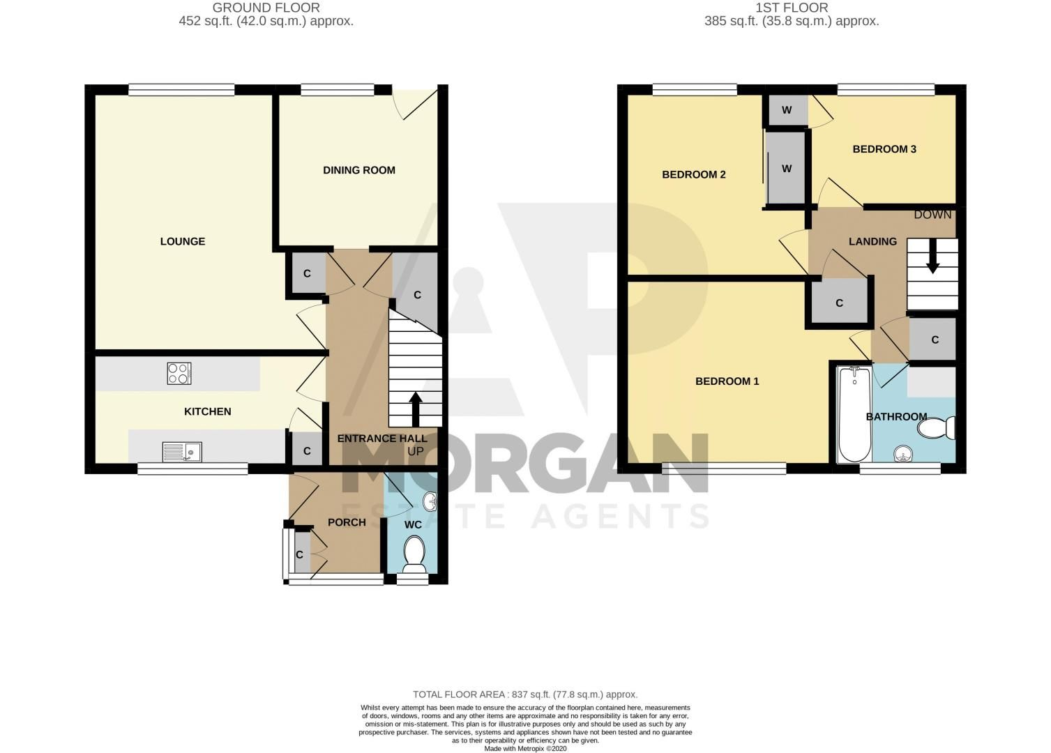 3 bed house for sale in Wyre Road - Property Floorplan