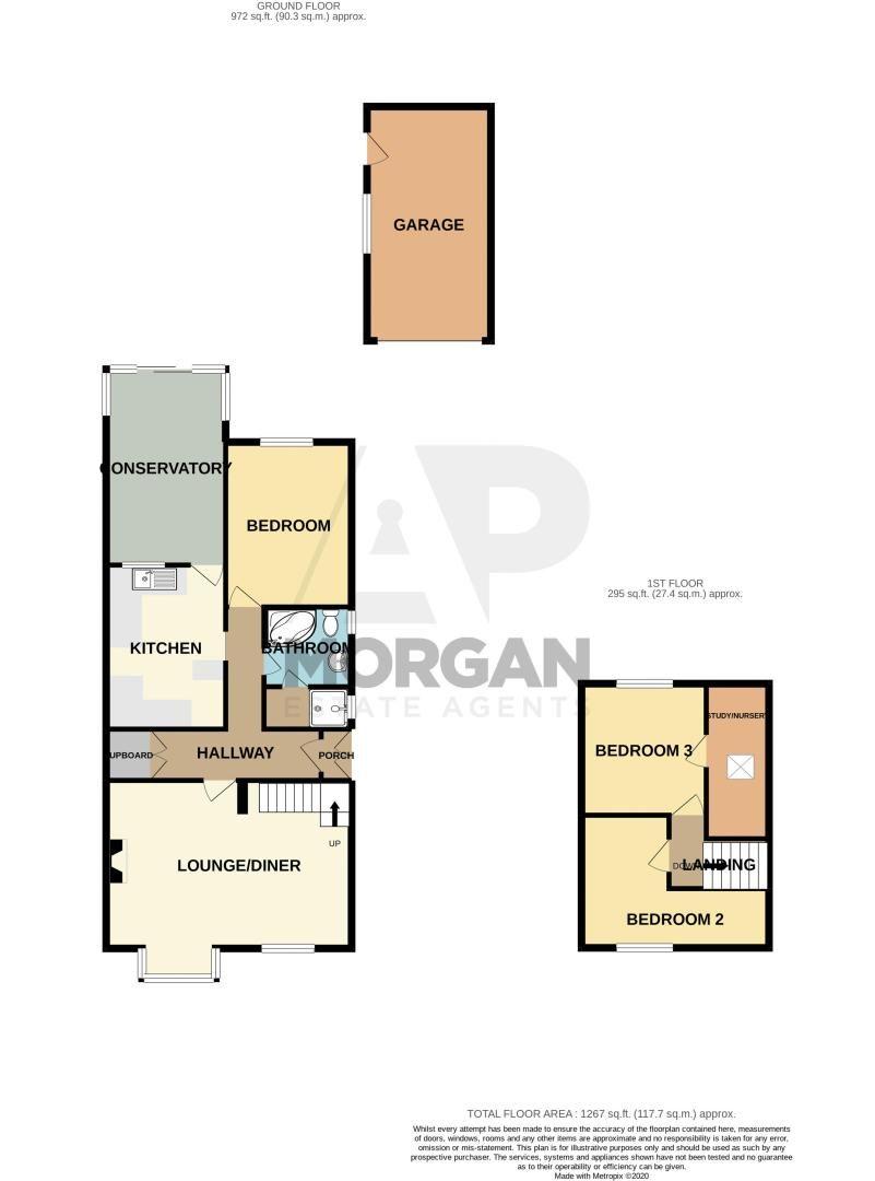 3 bed bungalow for sale in Old Birmingham Road - Property Floorplan