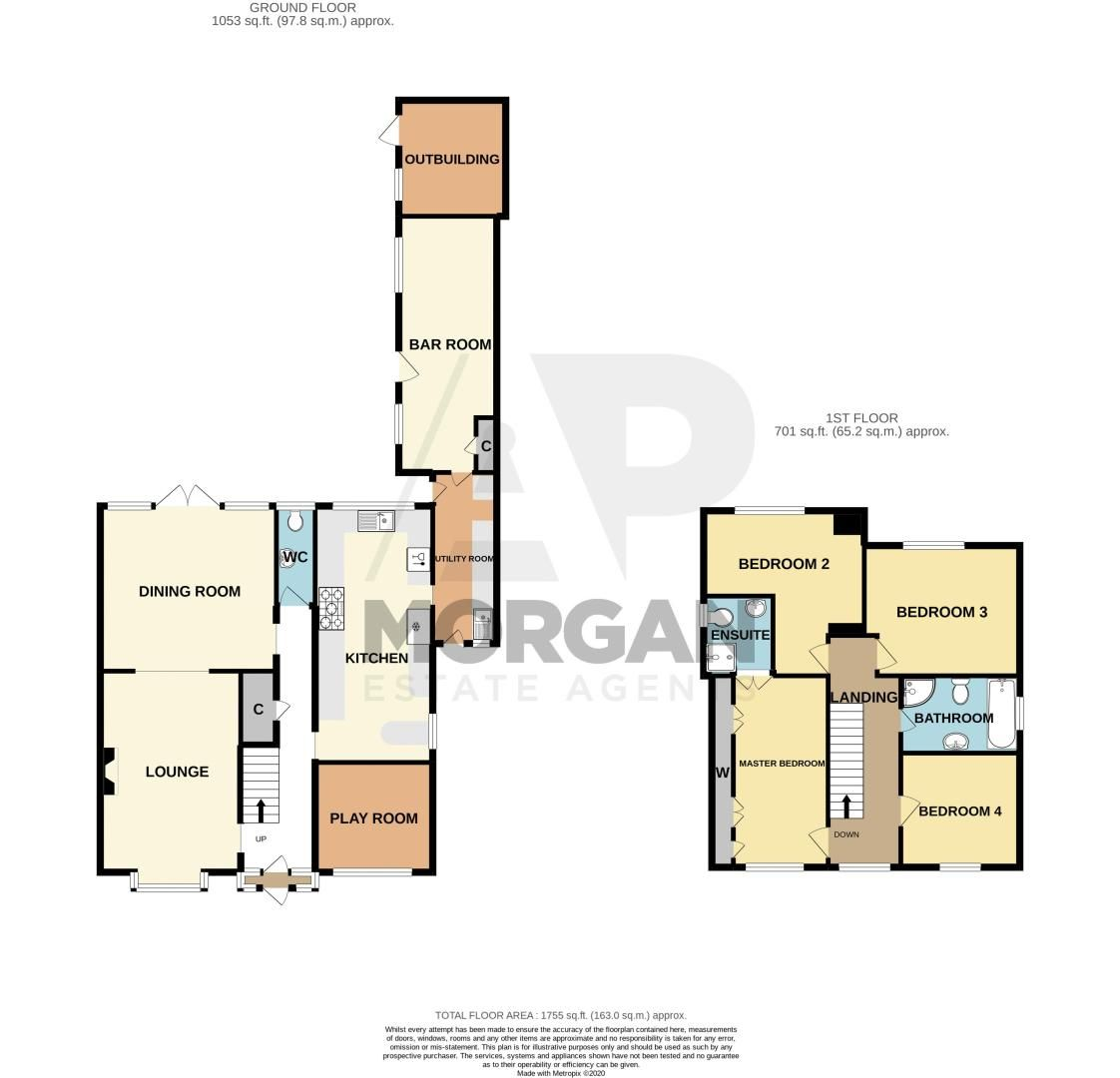 4 bed house for sale in Mucklow Hill - Property Floorplan