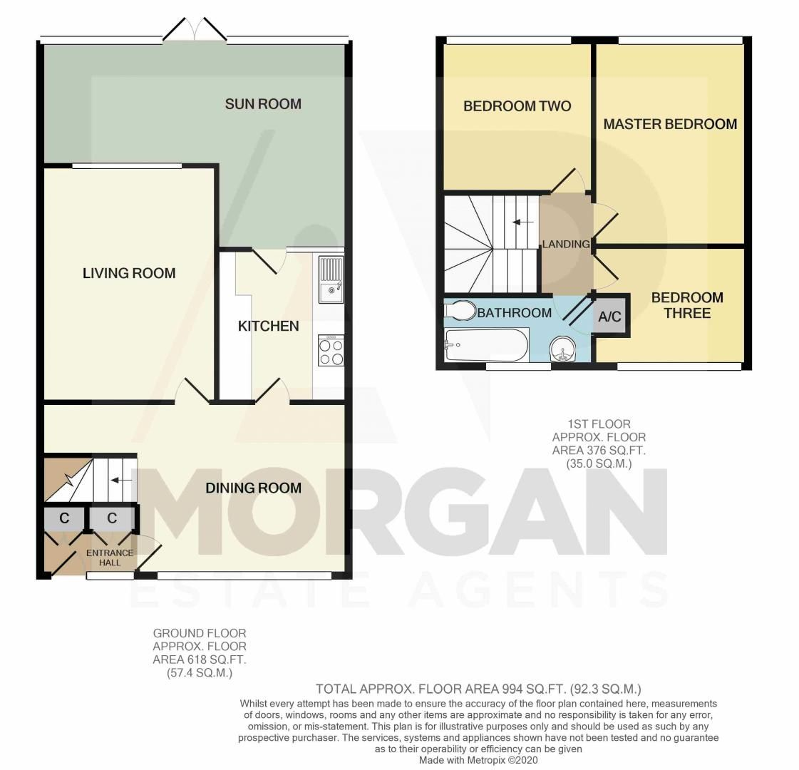 3 bed house for sale in St Johns Close - Property Floorplan