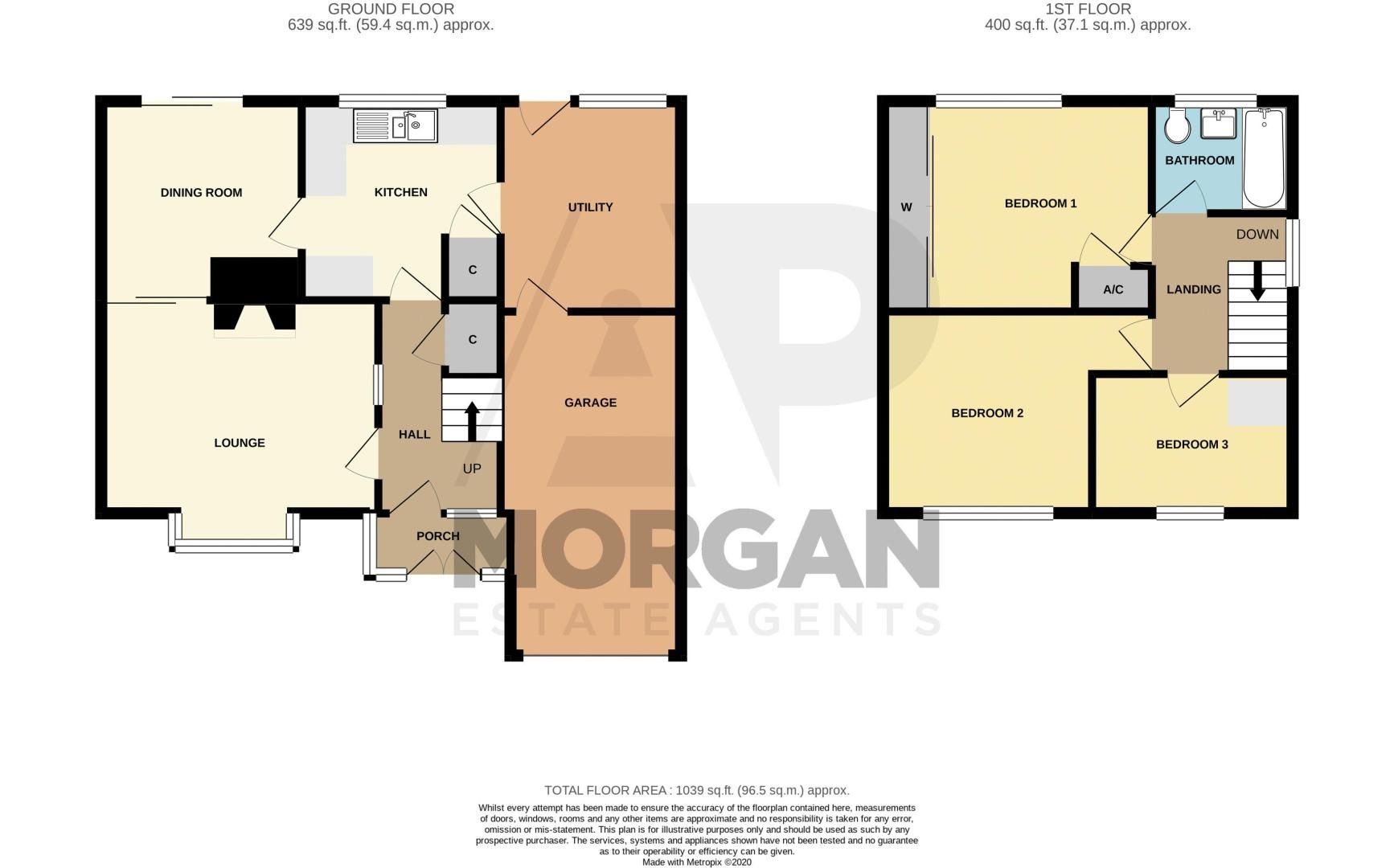 3 bed house for sale in Fordhouse Road - Property Floorplan