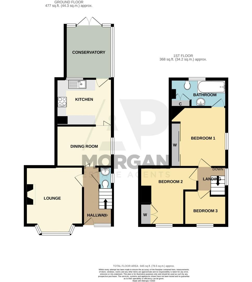 3 bed house for sale in Colley Lane - Property Floorplan
