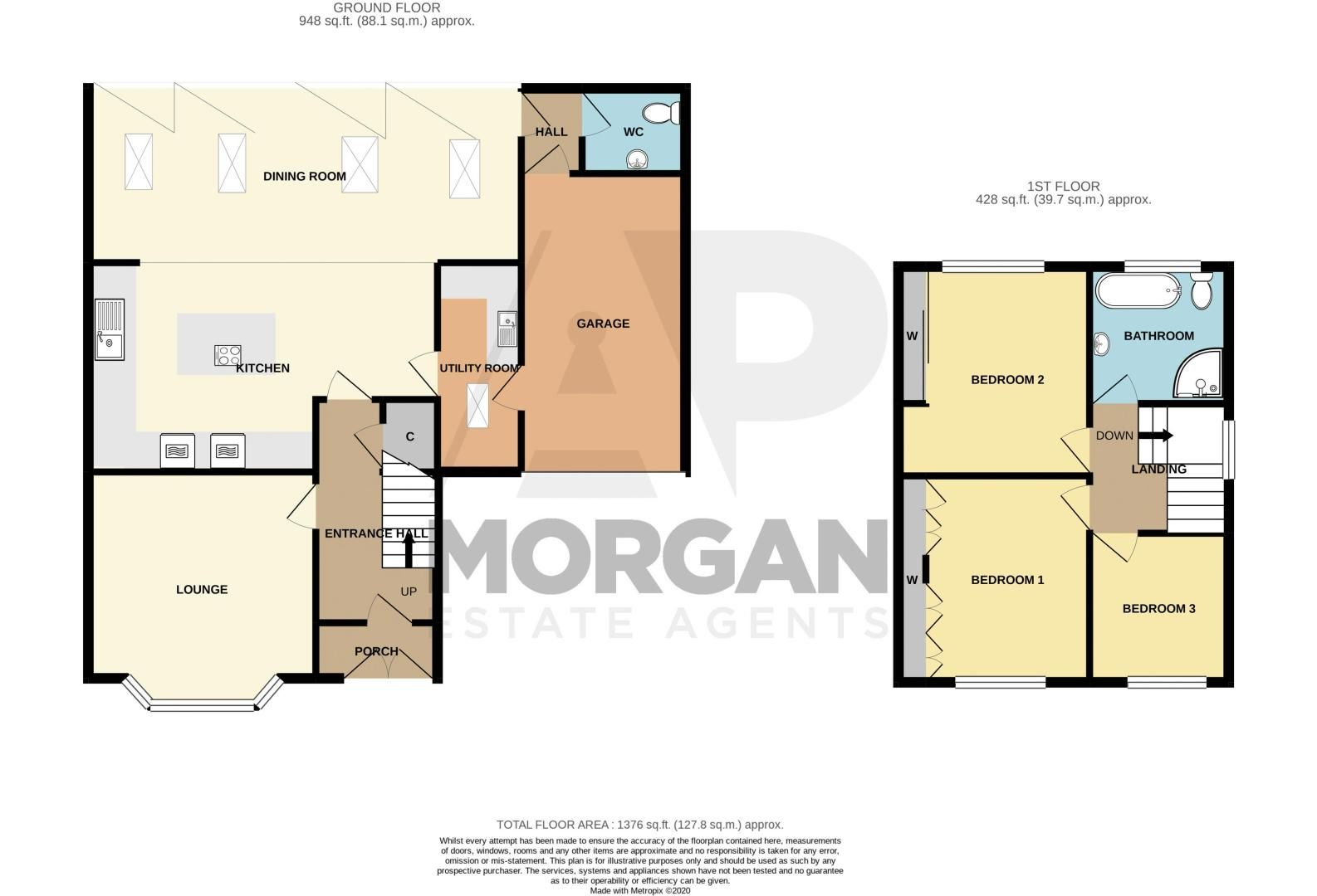 3 bed house for sale in Heath Farm Road - Property Floorplan