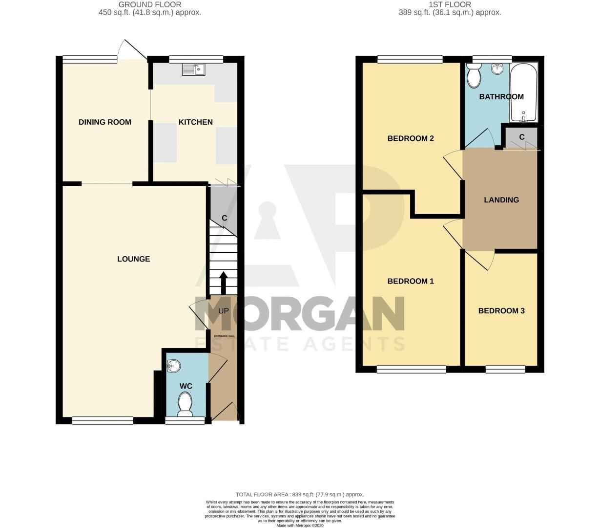 3 bed house for sale in Westcombe Grove - Property Floorplan