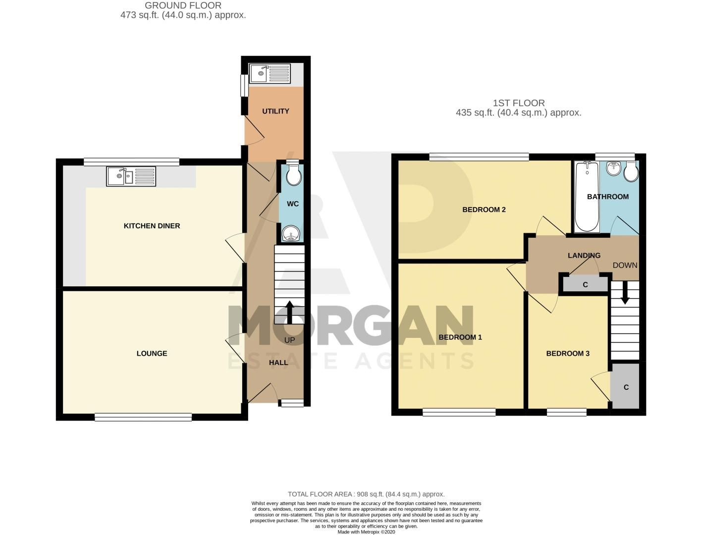 3 bed house for sale in Winstone Close - Property Floorplan