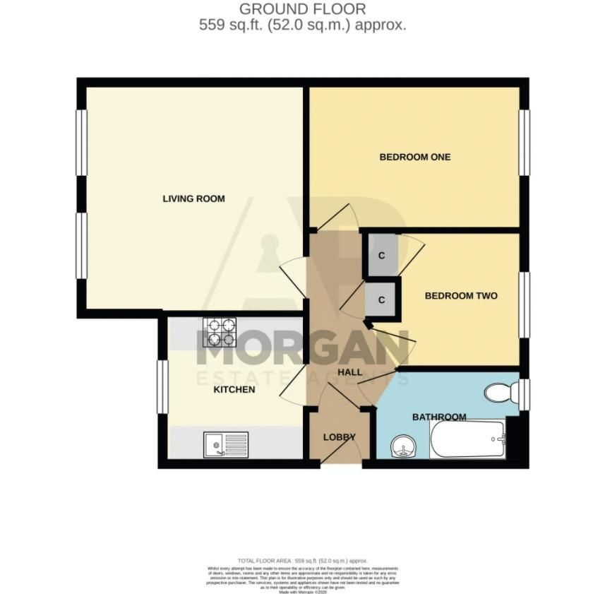 2 bed flat for sale in St. Peters Close - Property Floorplan