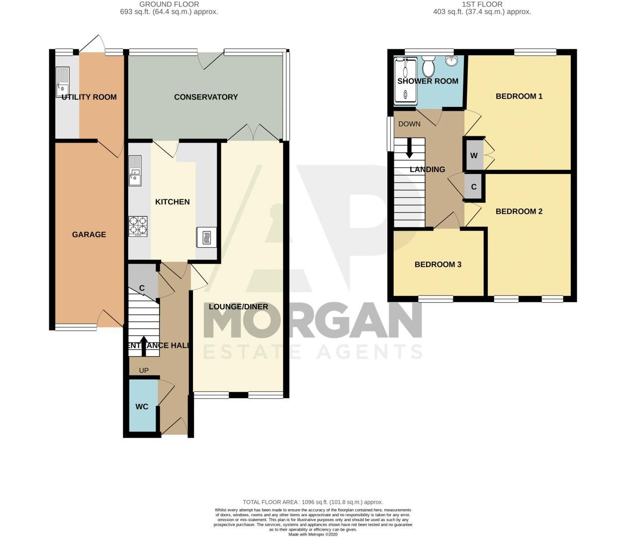 3 bed house for sale in Barsham Drive - Property Floorplan