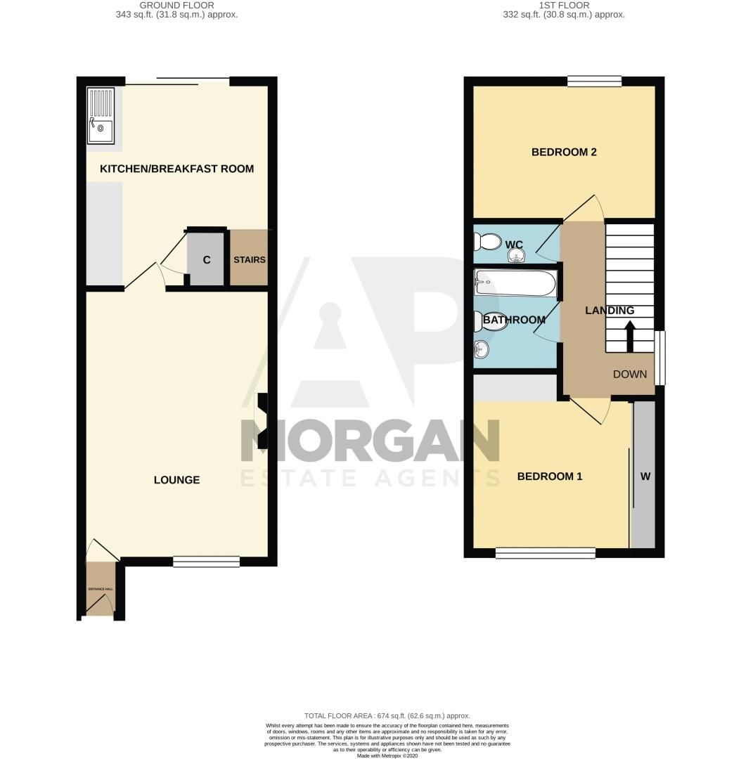 2 bed house for sale in Stewkins - Property Floorplan