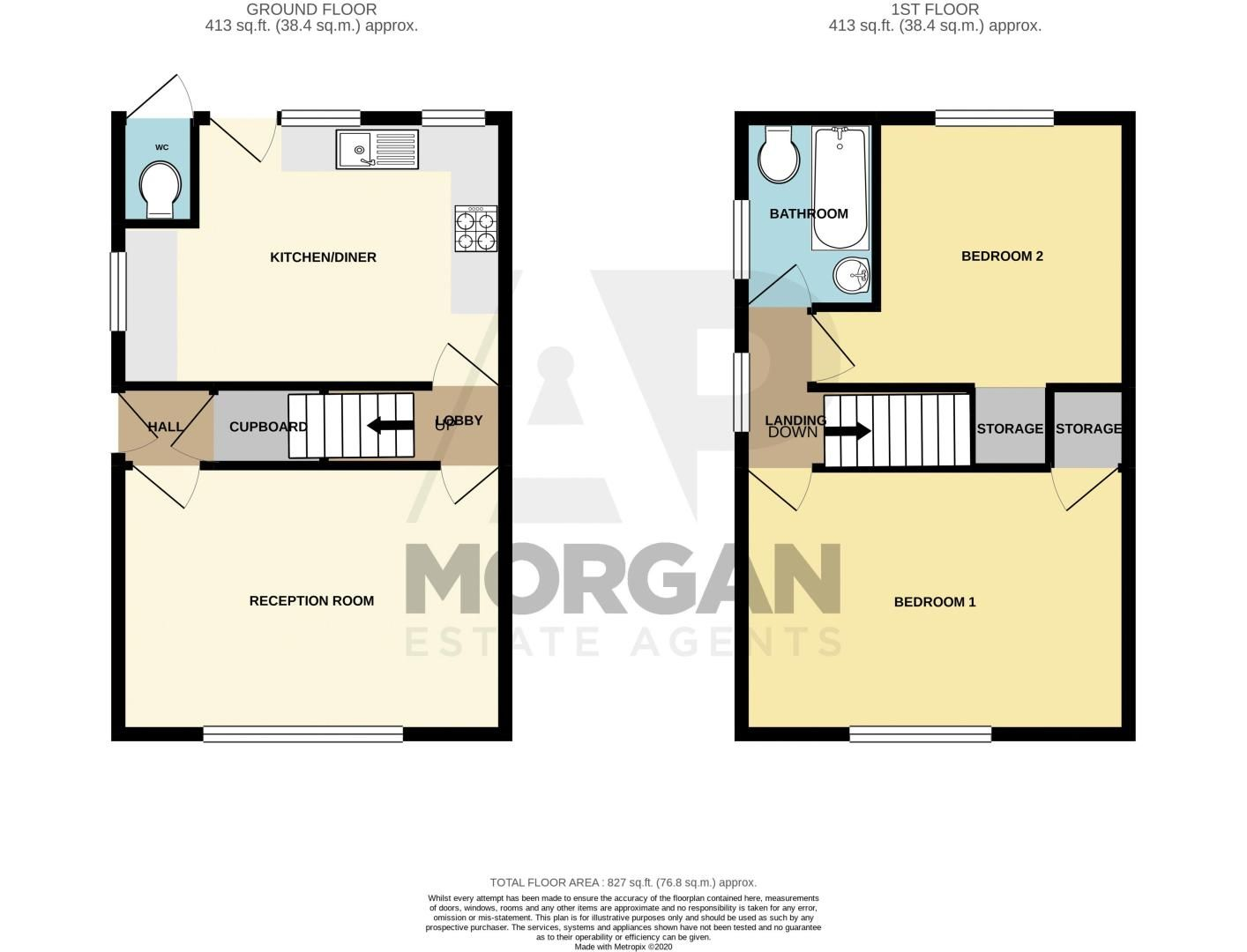 2 bed house for sale in Bridley Moor Road - Property Floorplan
