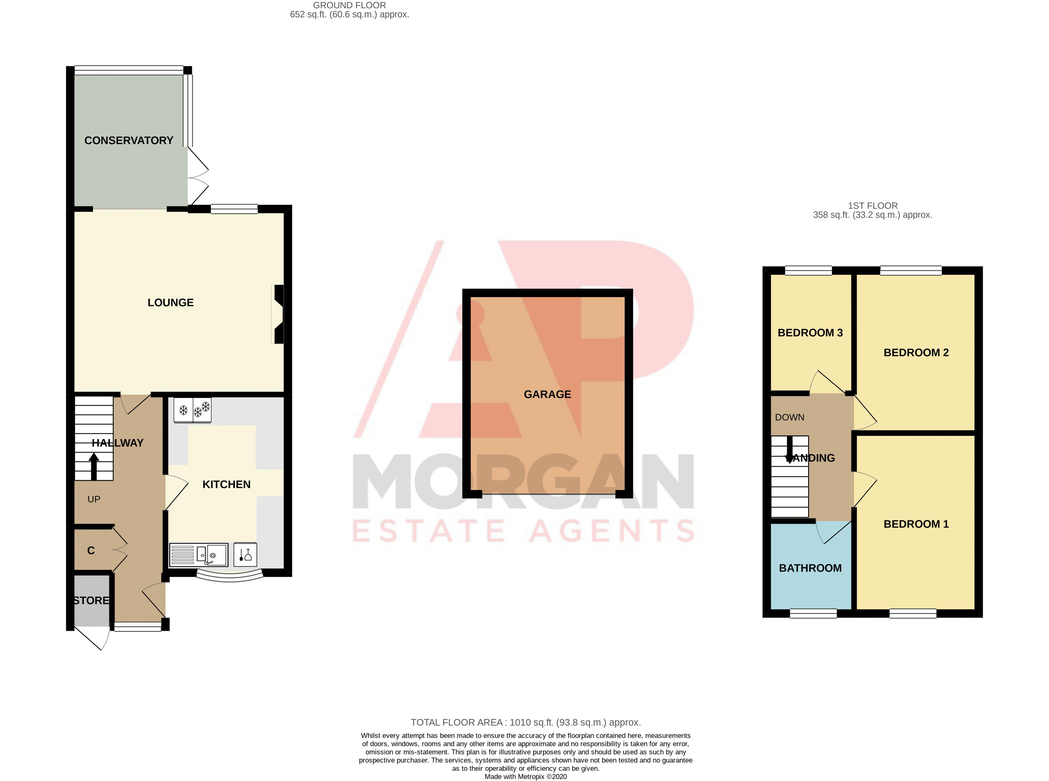 3 bed house to rent in Quantock Road - Property Floorplan