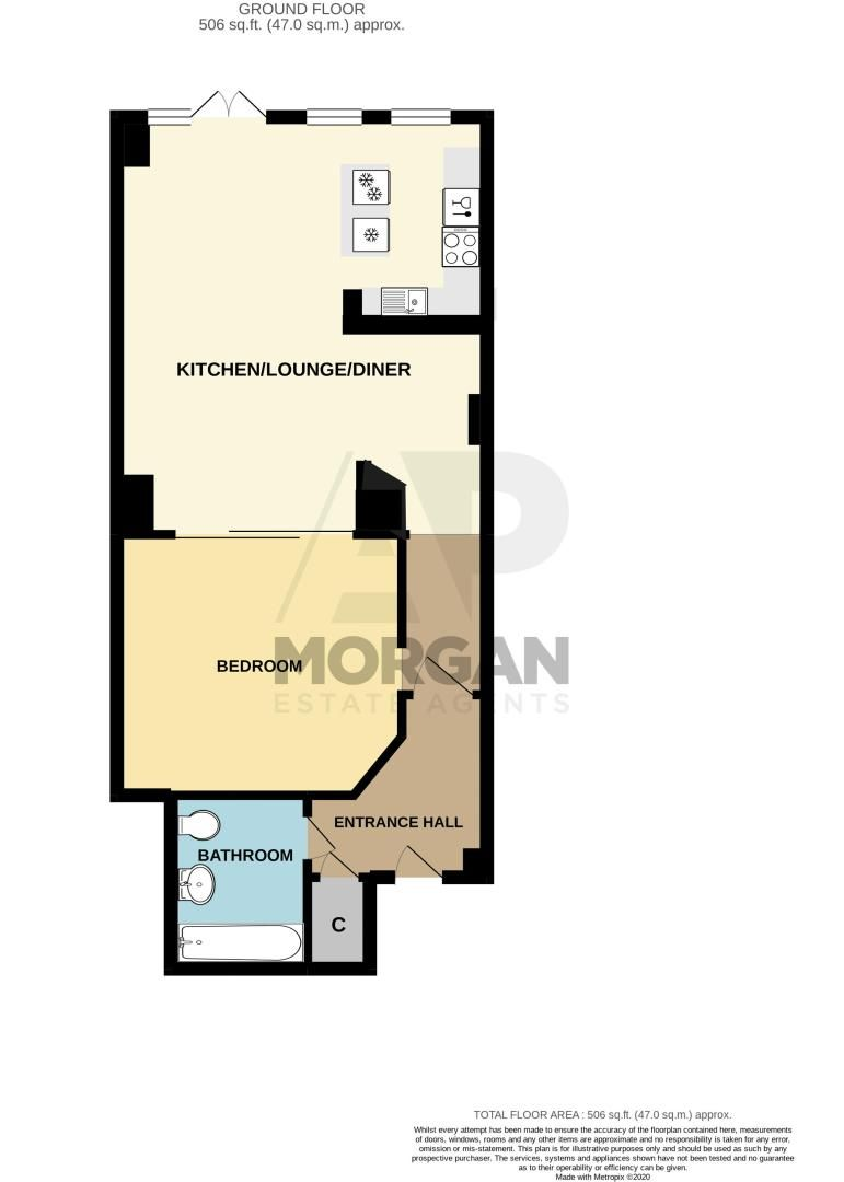 1 bed flat for sale in 87 Branston Street - Property Floorplan