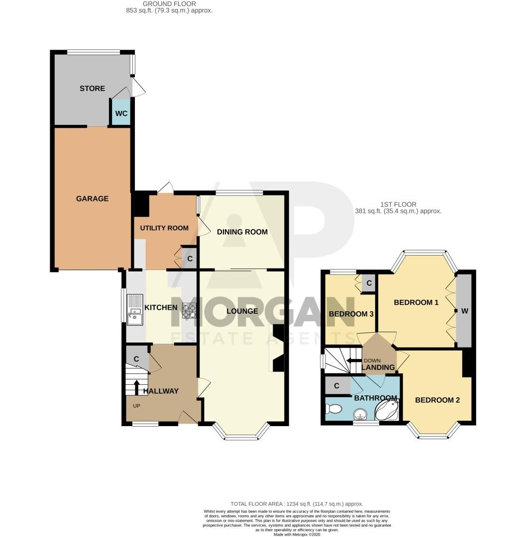 3 bed house for sale in Rigby Lane - Property Floorplan