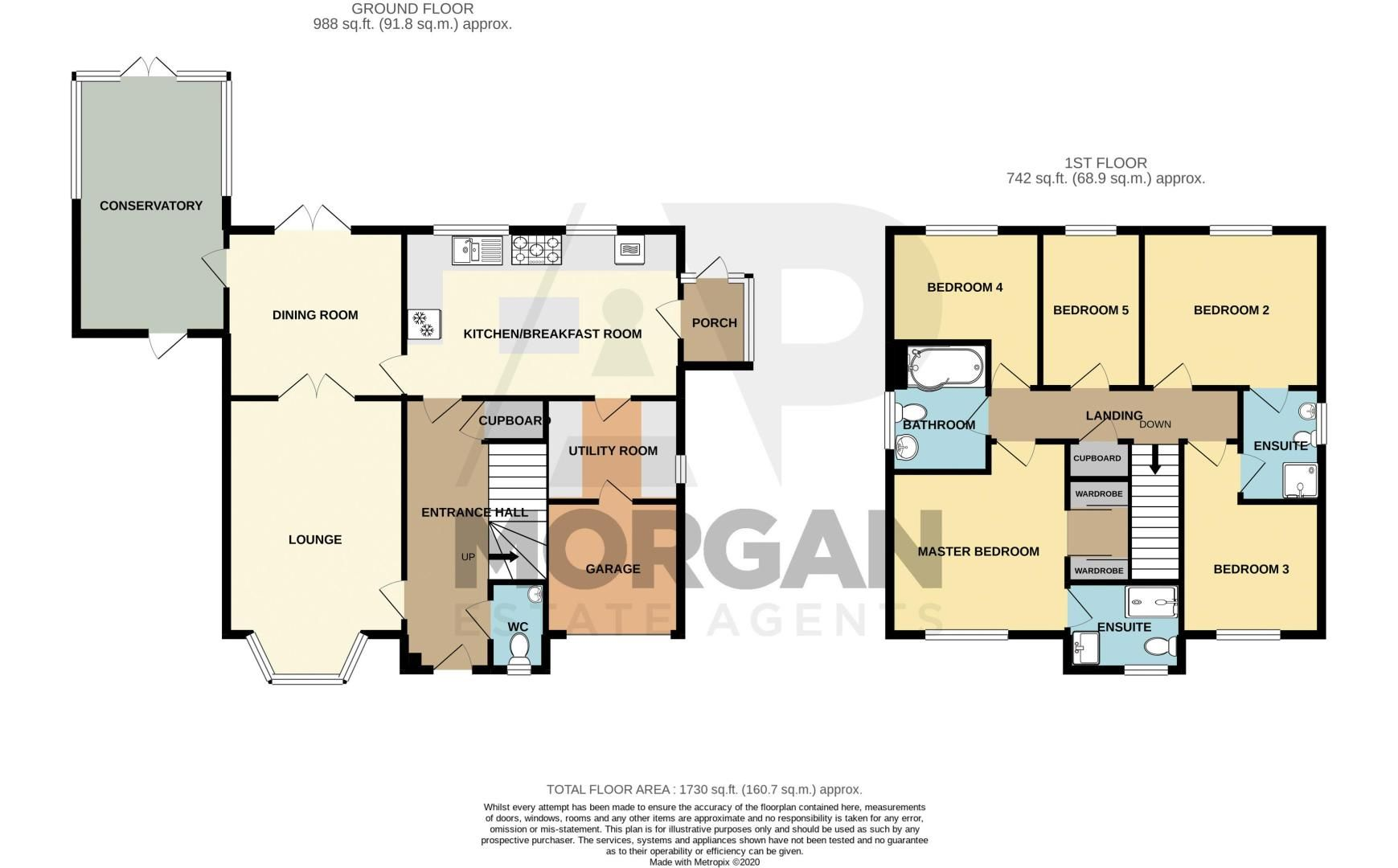 5 bed house for sale in Davenham Road - Property Floorplan