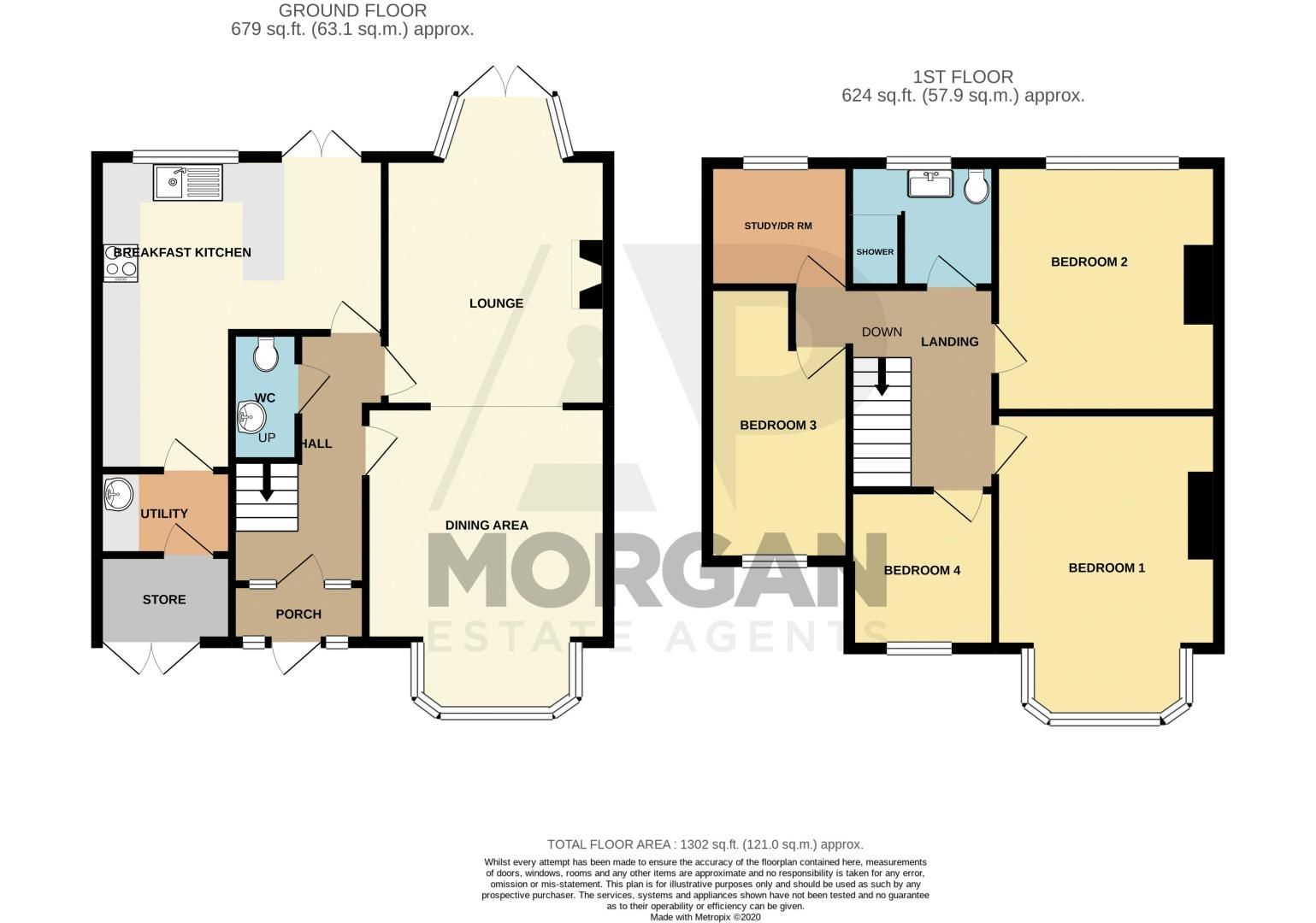 4 bed house for sale in Garland Crescent - Property Floorplan