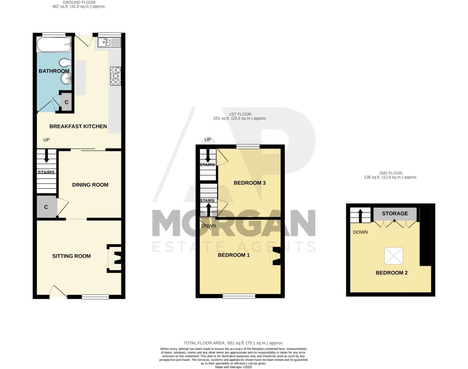 3 bed house for sale in Marble Alley - Property Floorplan