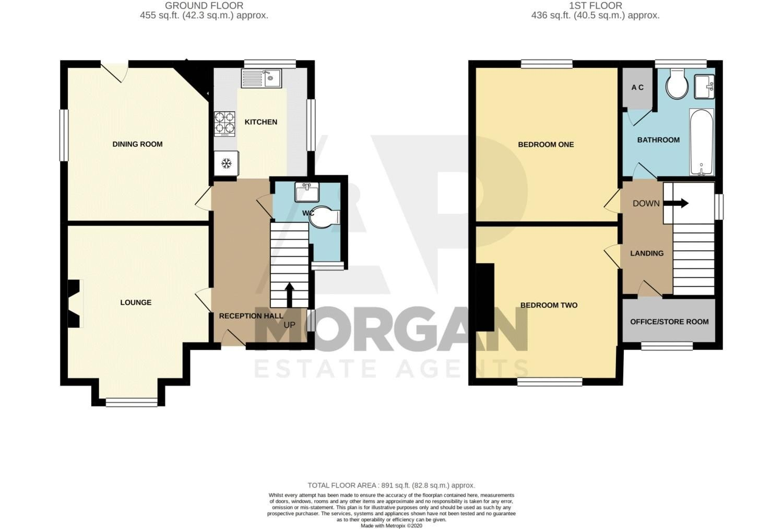 2 bed house for sale in Feckenham Road - Property Floorplan