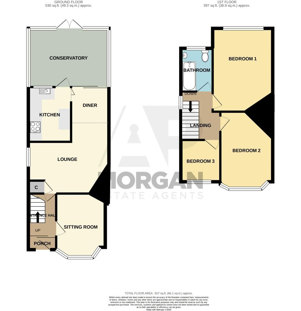 3 bed house for sale in Newfield Lane - Property Floorplan