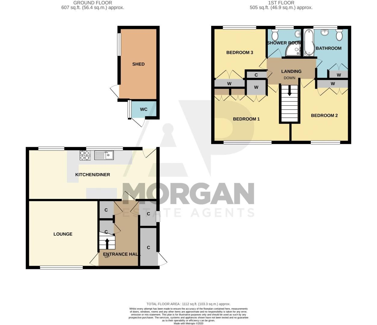 3 bed house for sale in Caslon Crescent - Property Floorplan