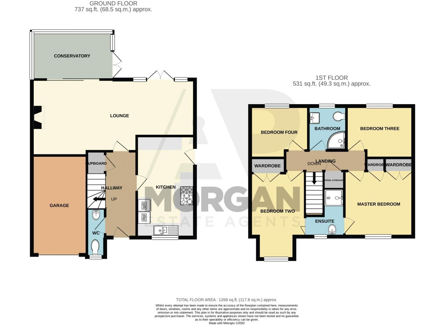 4 bed house for sale in Moorcroft Gardens - Property Floorplan