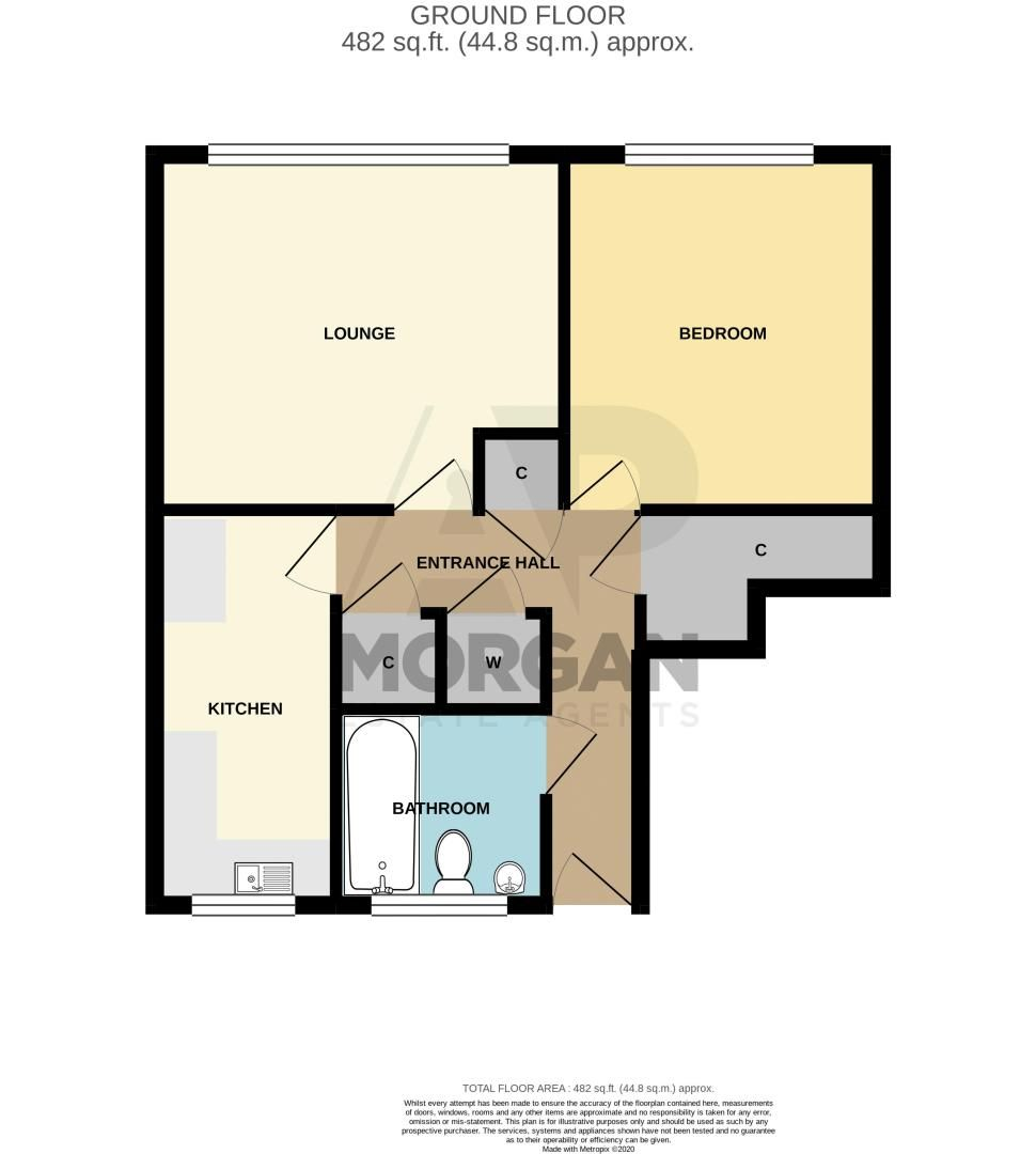 1 bed flat for sale in New Pool Road - Property Floorplan