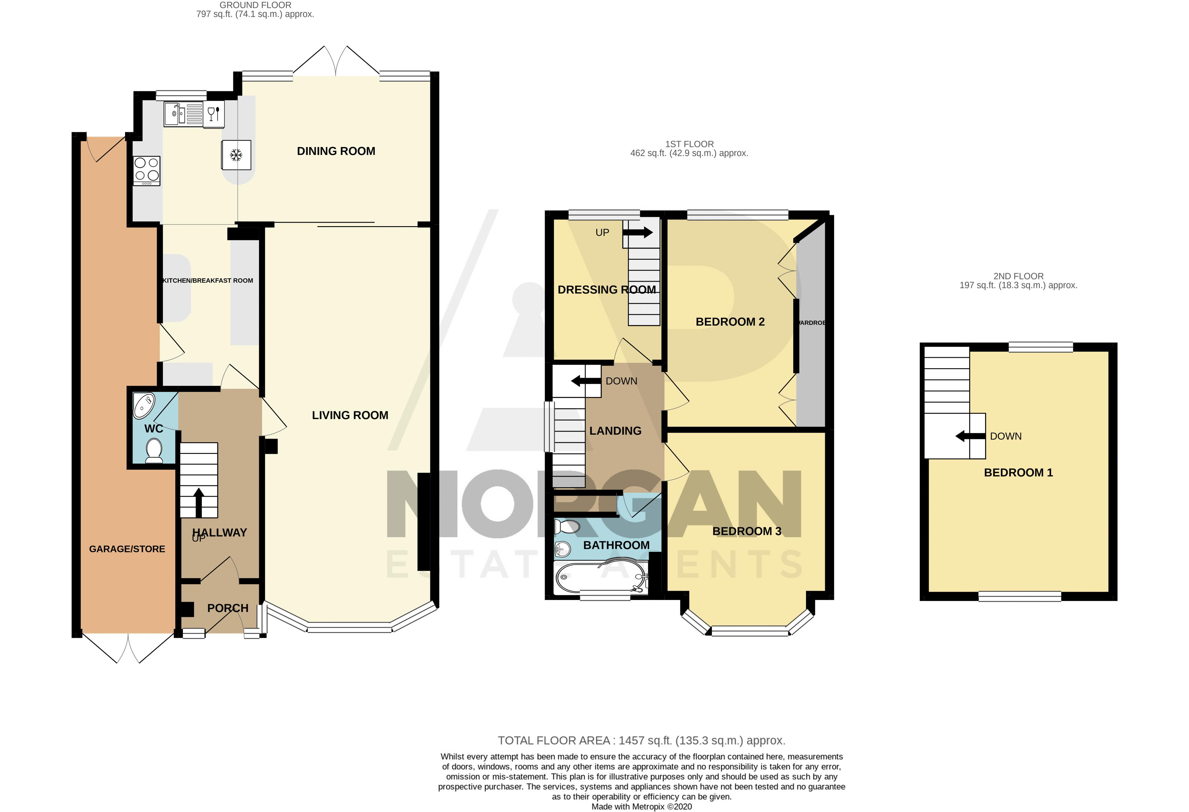 3 bed house for sale in West Park Avenue - Property Floorplan