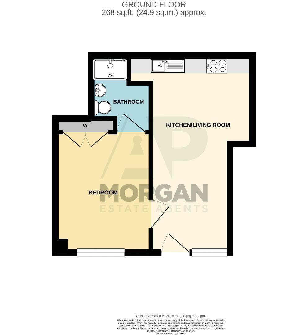 1 bed flat for sale in Herbert Street - Property Floorplan