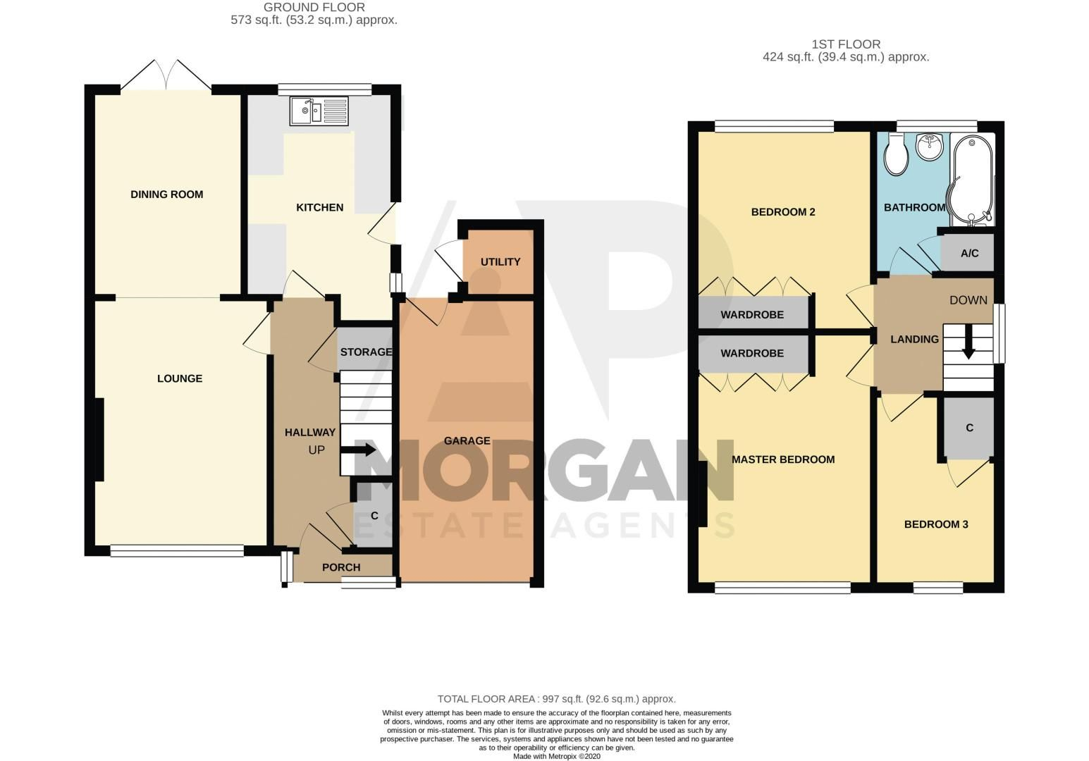 3 bed house for sale in Green Lane - Property Floorplan