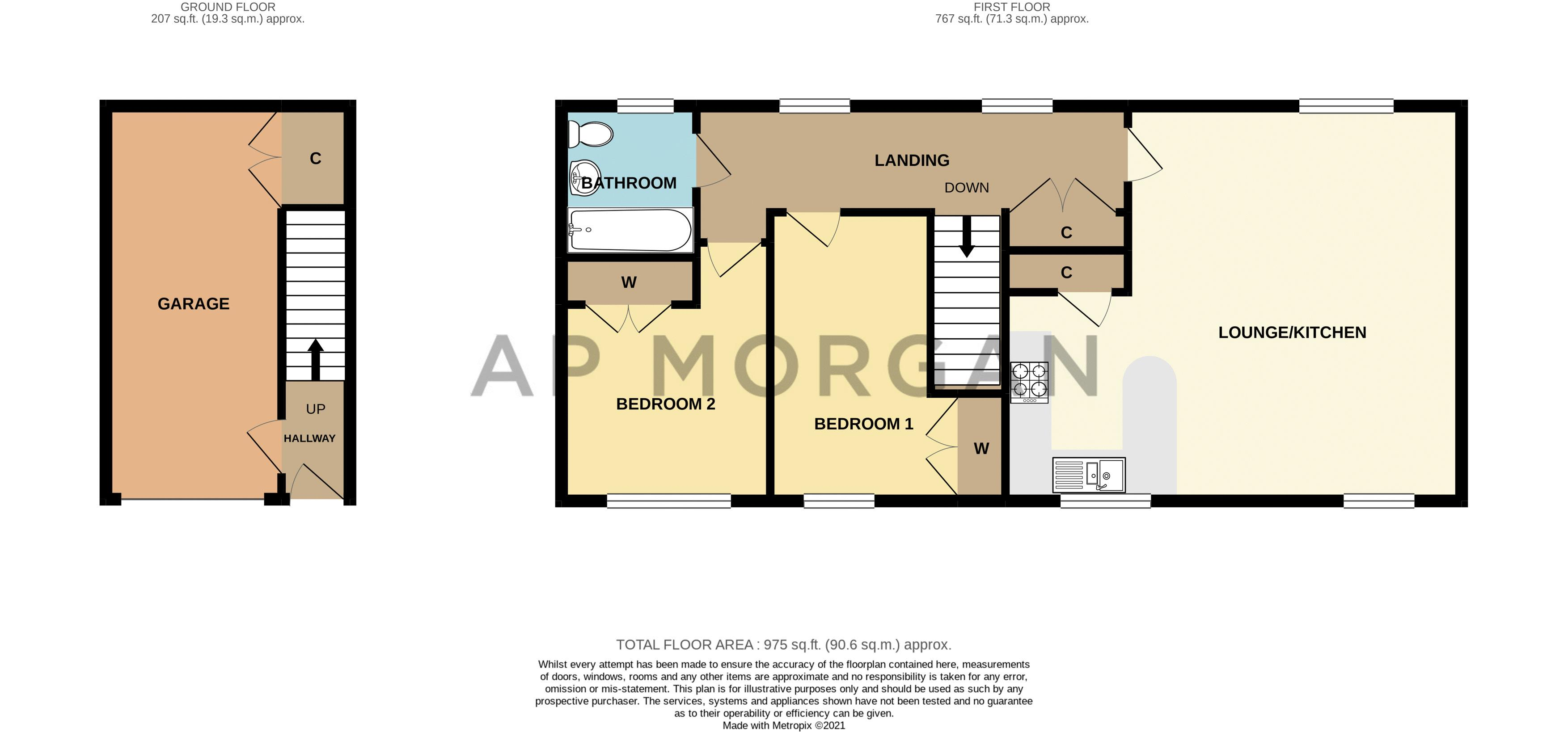 2 bed house for sale in Railway Walk - Property Floorplan