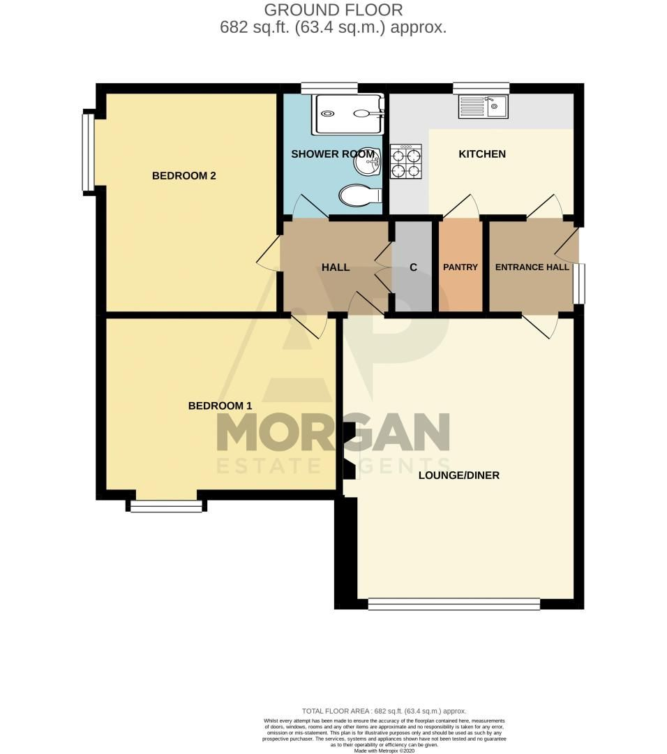2 bed flat for sale in Abberton Close - Property Floorplan