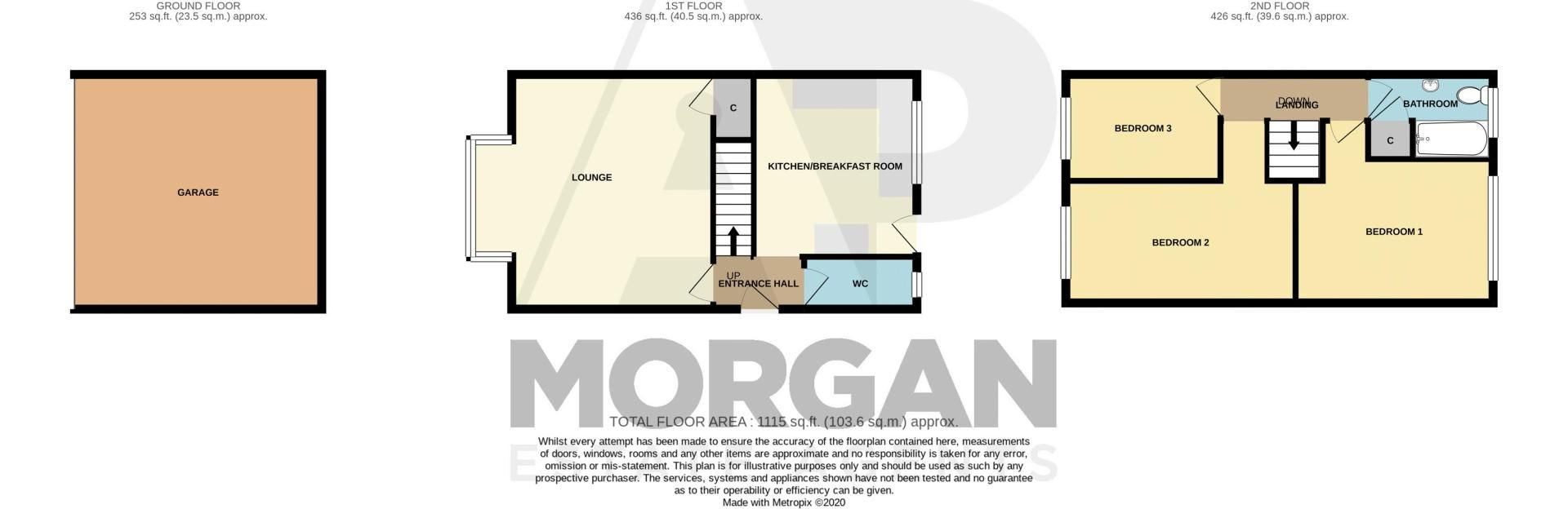 3 bed house for sale in Long Innage - Property Floorplan