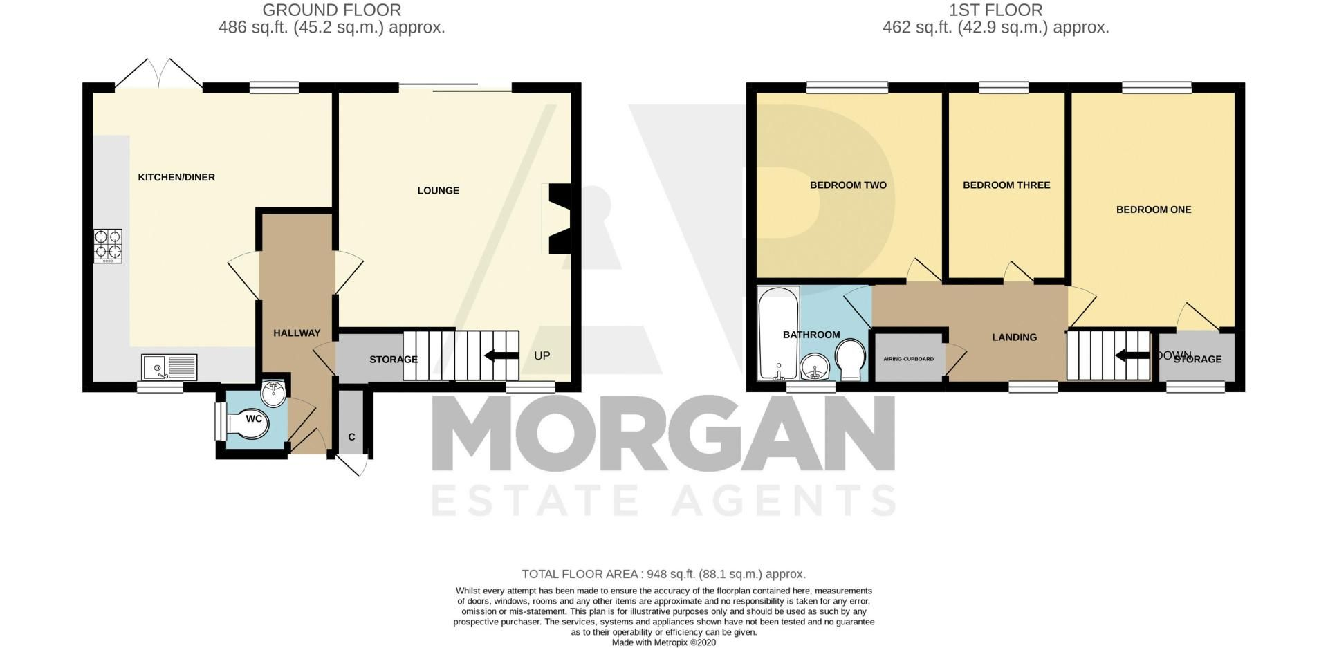 3 bed house for sale in Eathorpe Close - Property Floorplan