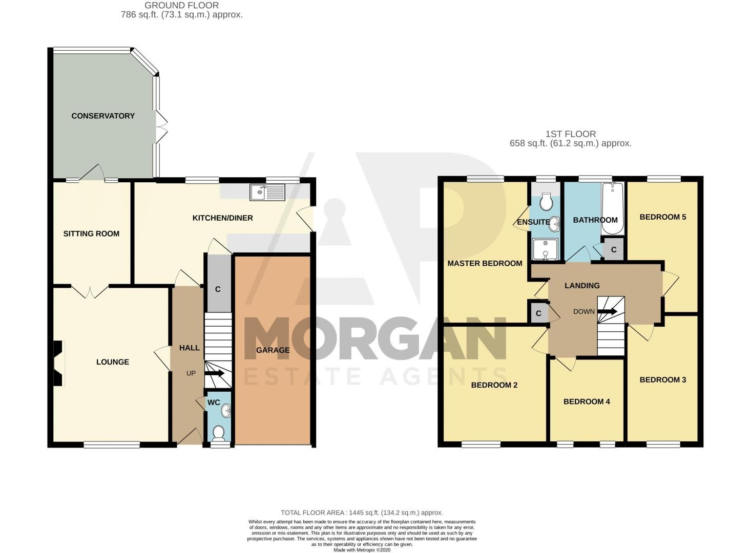 5 bed house for sale in Longfellow Close - Property Floorplan