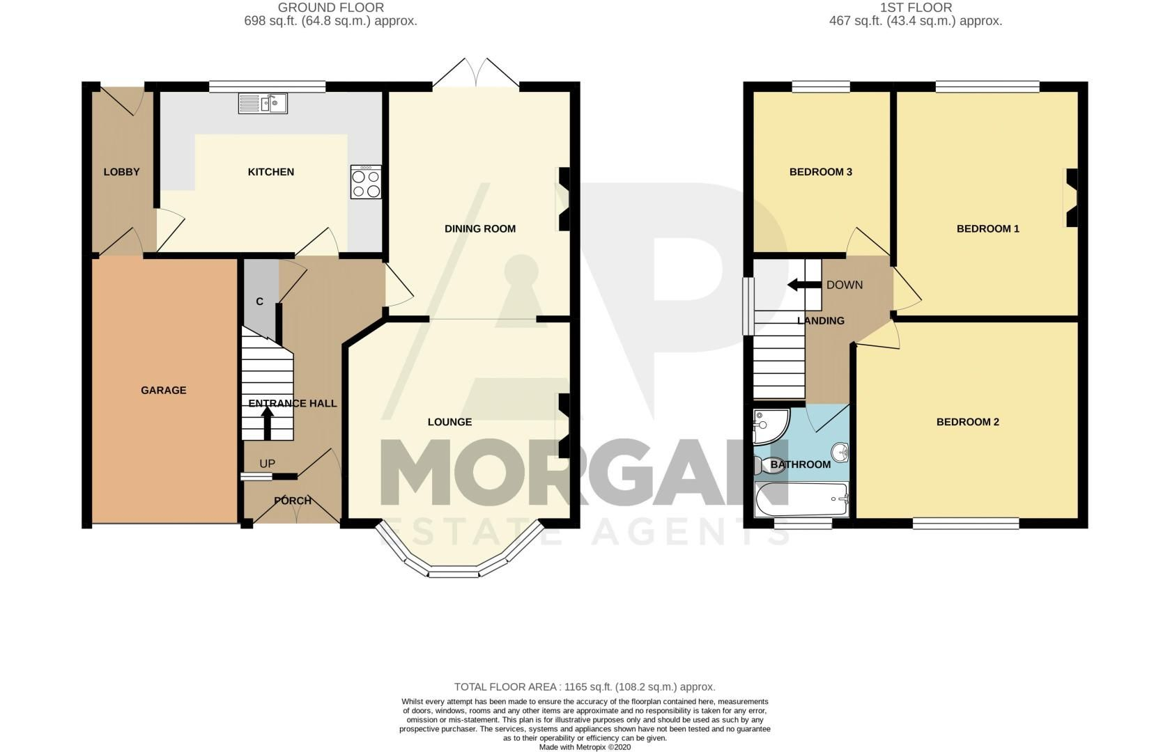 3 bed house for sale in High Haden Road - Property Floorplan