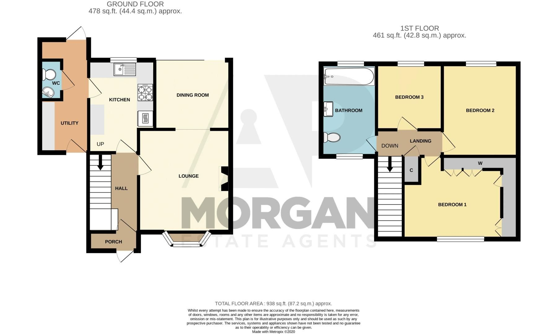 3 bed house for sale in Toms Town Lane - Property Floorplan