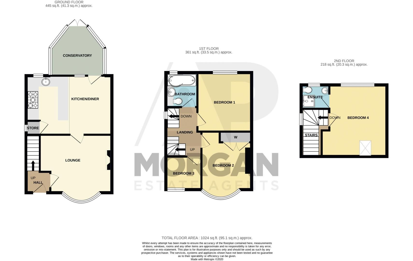 4 bed house for sale in Swan Crescent - Property Floorplan