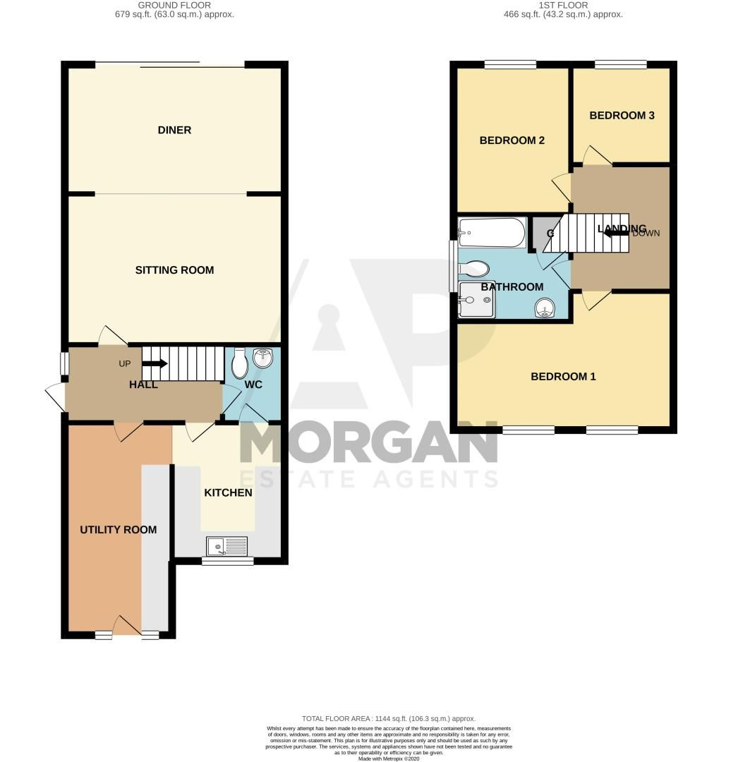 3 bed house for sale in Stour Valley Close - Property Floorplan