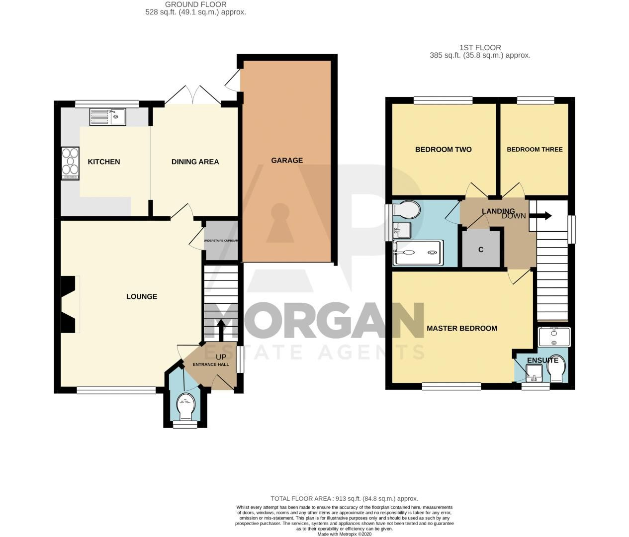 3 bed house for sale in Pear Tree Drive - Property Floorplan