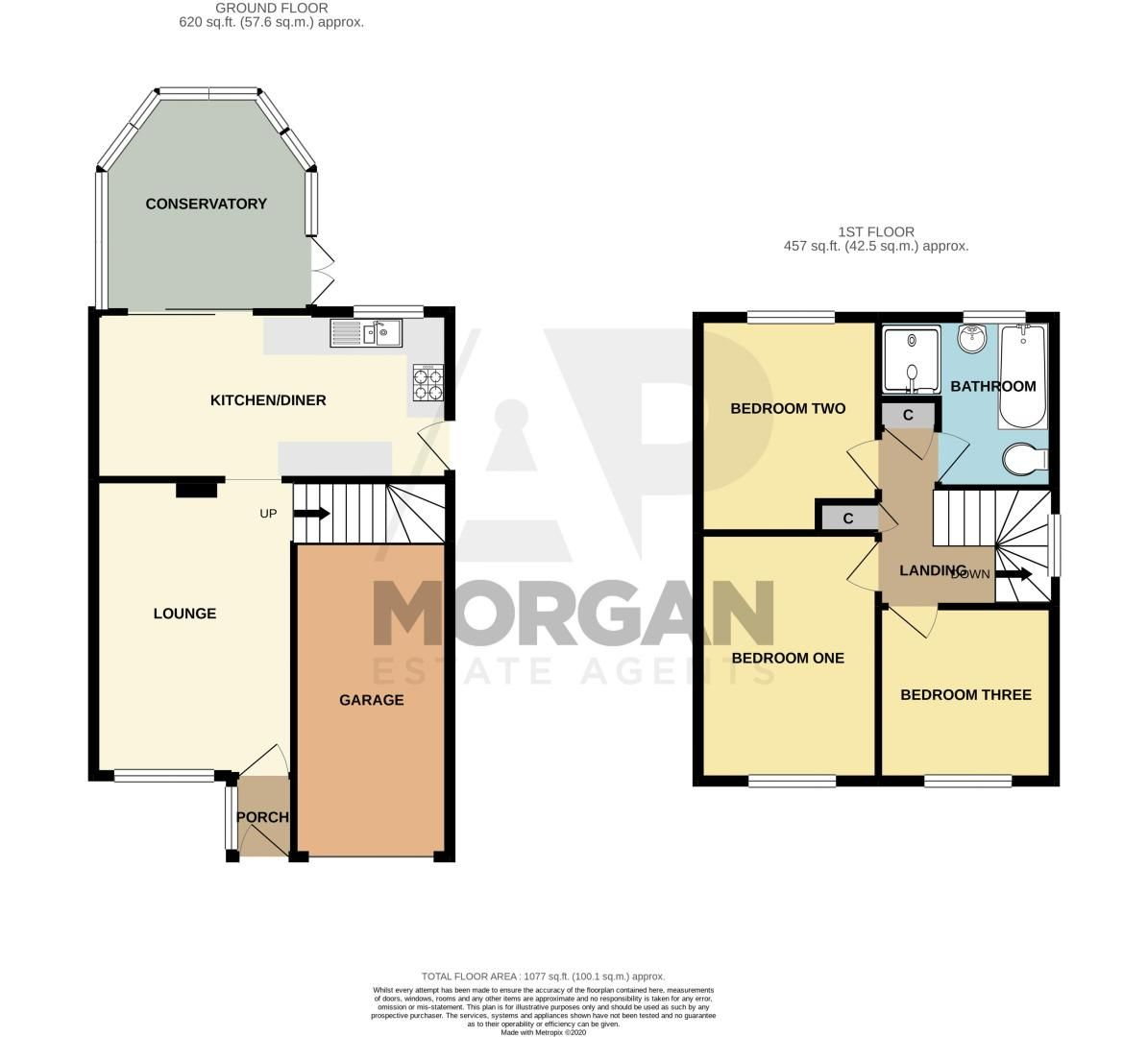 3 bed house for sale in Maisemore Close - Property Floorplan