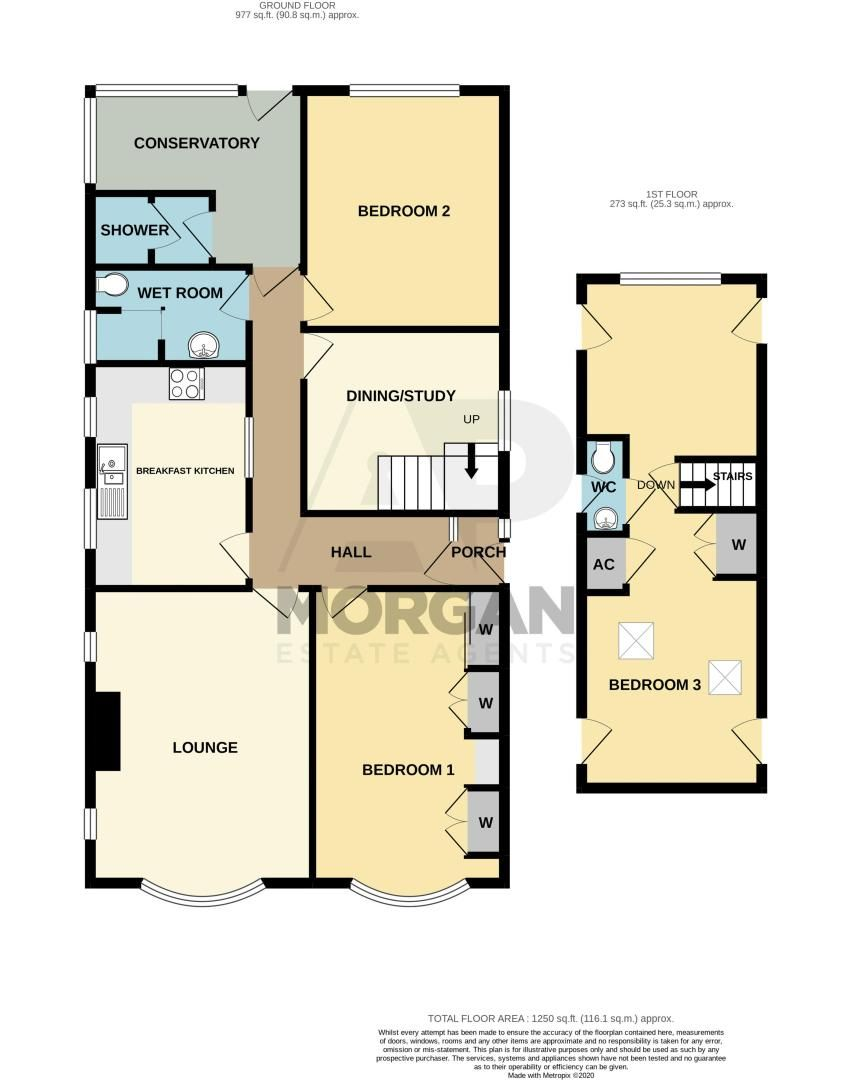 3 bed bungalow for sale in Braces Lane - Property Floorplan