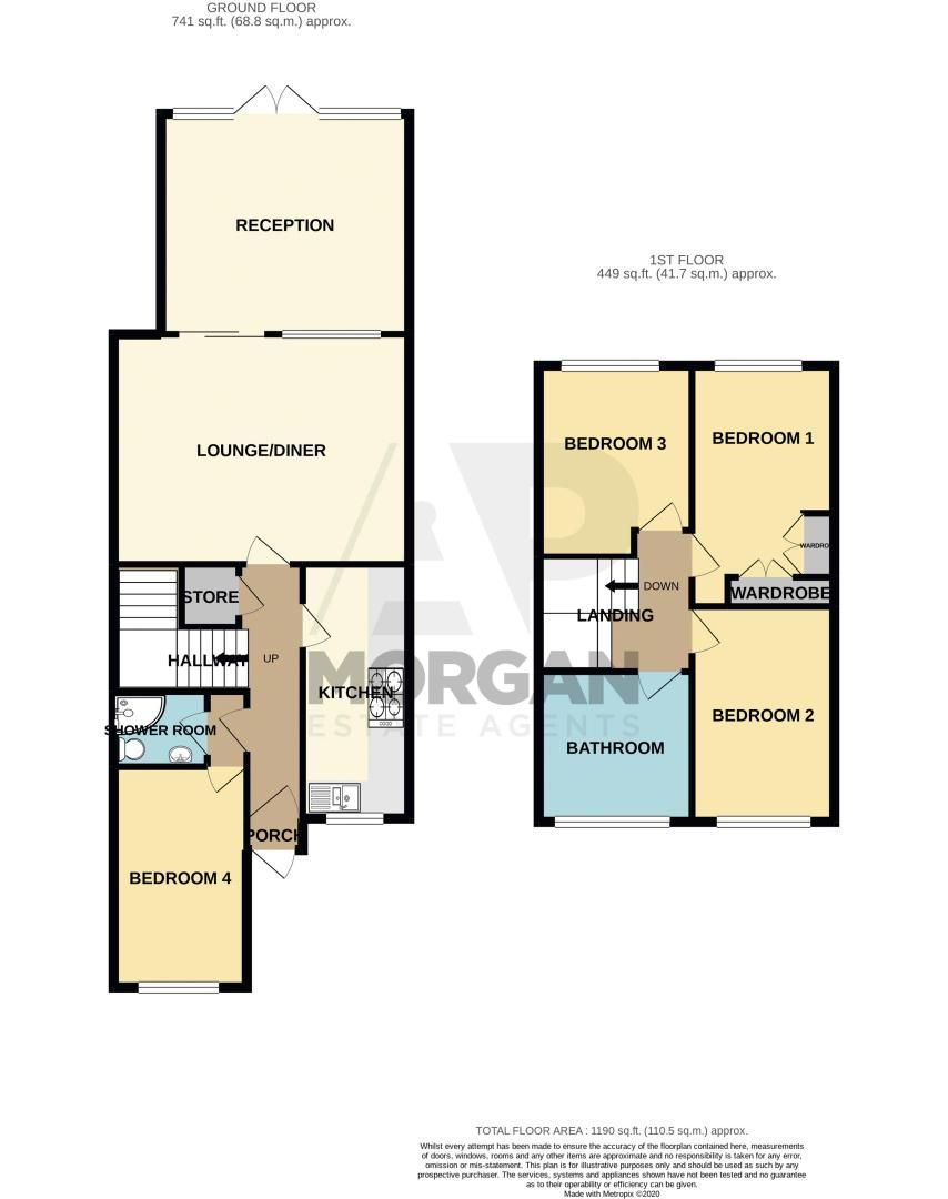 4 bed house for sale in Westhaven Drive - Property Floorplan
