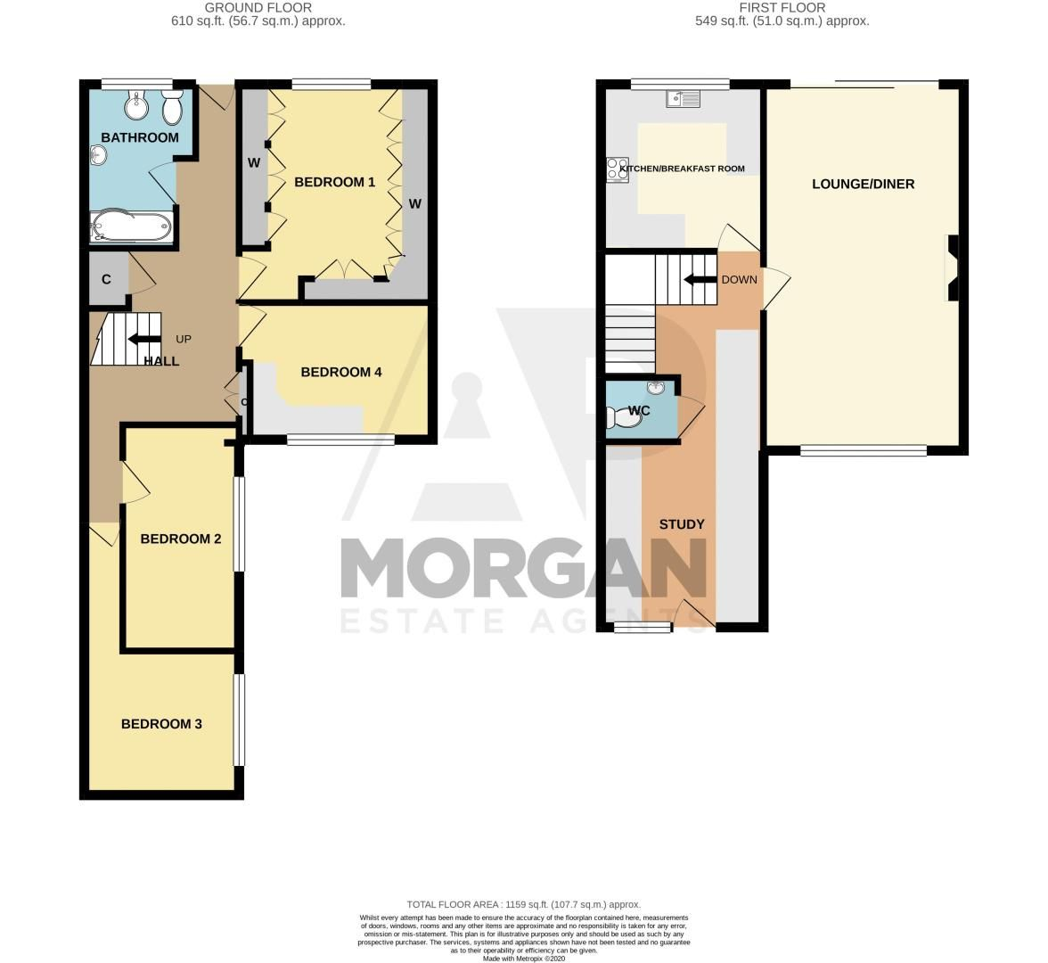 4 bed house for sale in Brockmoor Close - Property Floorplan