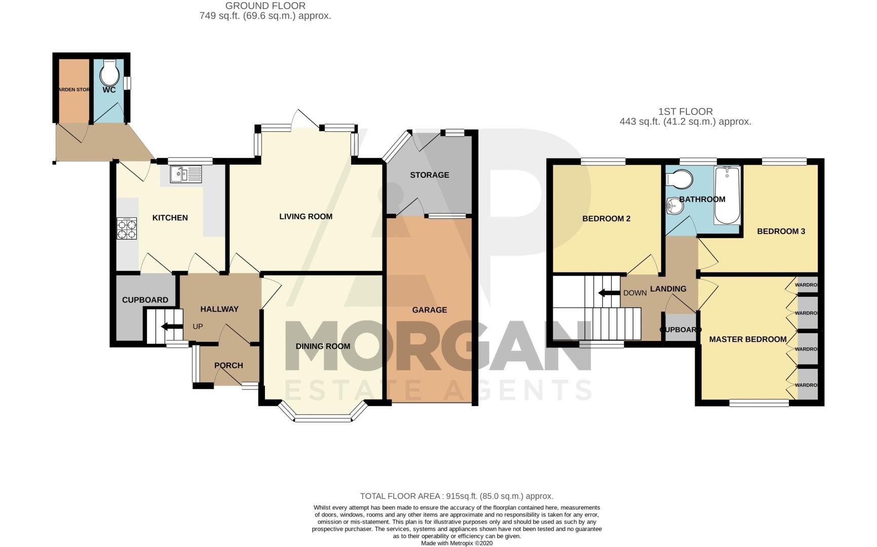 3 bed house for sale in Hazelton Road - Property Floorplan